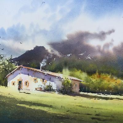 Stage d'aquarelle 4 jours Thierry de Marichalardu 18 au 21octobre 2021  Domaine de Preuilh 40110 Morcenx (Landes)