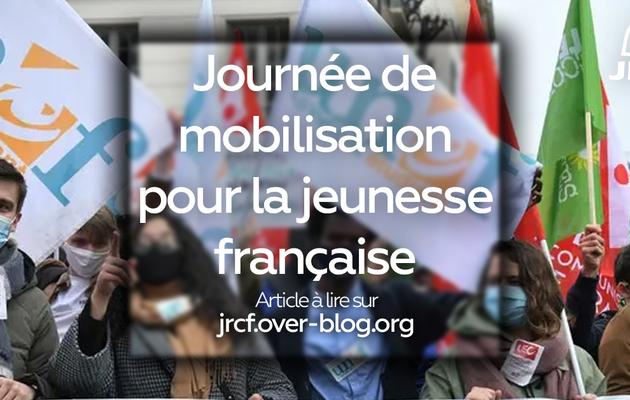 JOURNÉE DE MOBILISATION POUR LA JEUNESSE FRANÇAISE! [Communiqué 17/03/2021]
