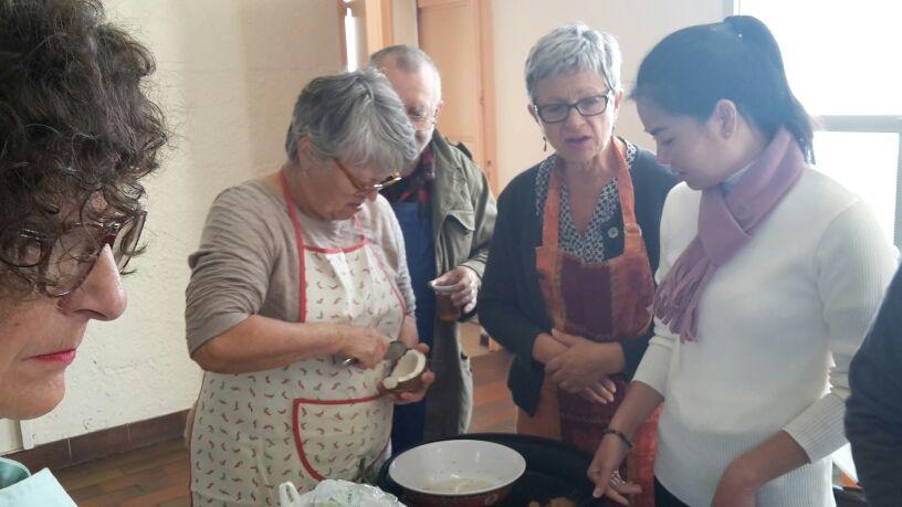 Notre chef Patrick et ses cuisiniers nous ont fait découvrir une nouvelle recette familiale très goûteuse.
