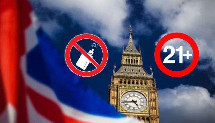 L'Angleterre interdit la vente de produits du vapotage aux moins de 21 ans