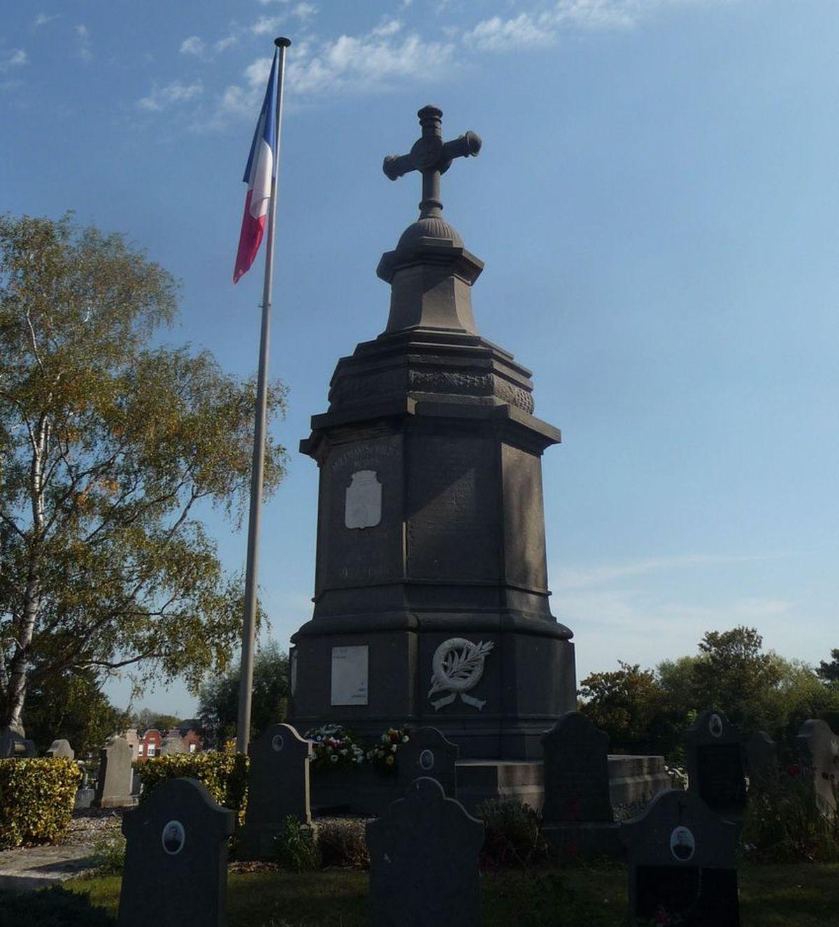 Le Mémorial des Guerres au Cimetière d'Halluin... 13 Septembre 2020.