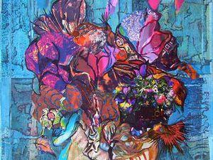 Jacqueline Putatti 2013 - Idées de peintures 168 - Arcimbouquet - Acryliques sur papier 50 x 65cm