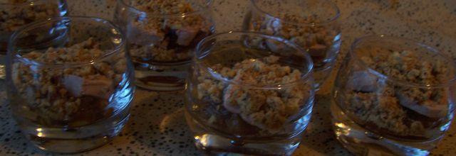 Verrine : foie gras en crumble