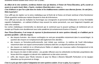 COMPTE RENDU DU CTA DU 07/10/2021