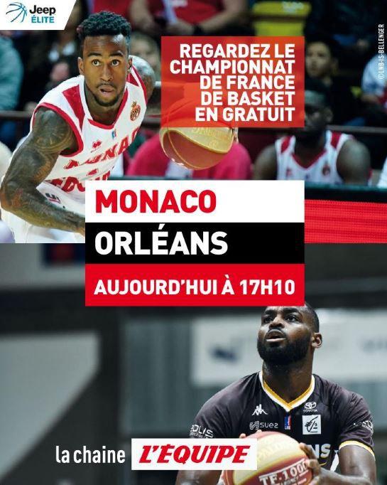 Monaco / Orléans : Sur quelle chaîne suivre en clair la rencontre ce samedi ?