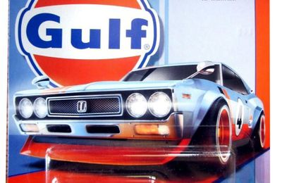 NISSAN LAUREL 2000 SGX GULF 1972 HOT WHEELS 1/64.