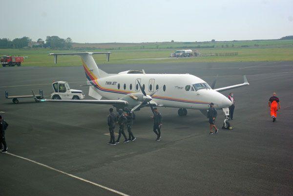 Le Beech 1900D F-GOPE de la compagnie Twin Jet que l'on a déjà vu, mais