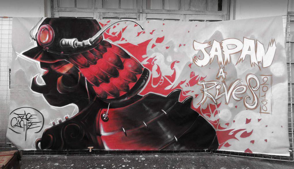 Bombes sur les murs et pinceaux sur toile pour allez de la pénombre à la clarté.