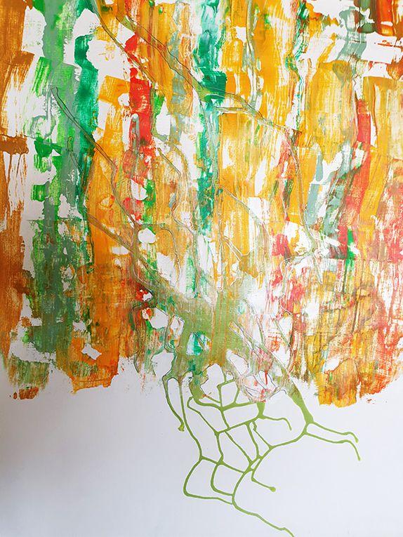 Gillette Darras - À partir du point 20 de la peinture en neuf mois