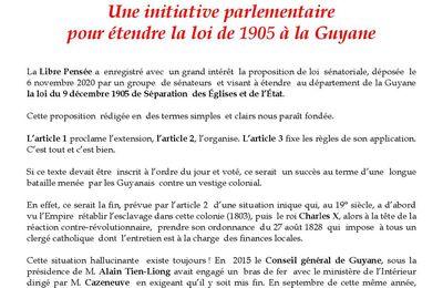 Une initiative parlementaire pour étendre la loi de 1905 à la Guyane