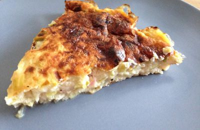 Quiche poireaux sans pâte : une version light !