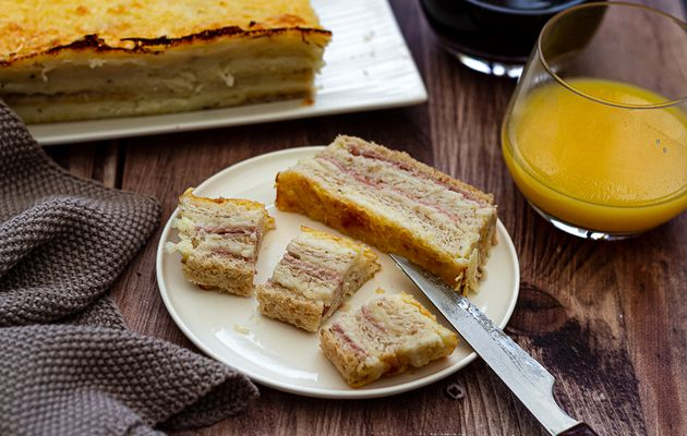 Croque cake jambon - fromage façon Weight Watchers