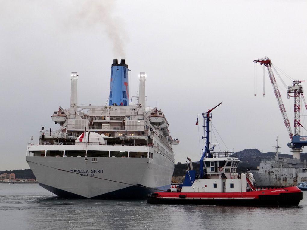 MARELLA SPIRIT , arrivant à Toulon le 07 avril 2018