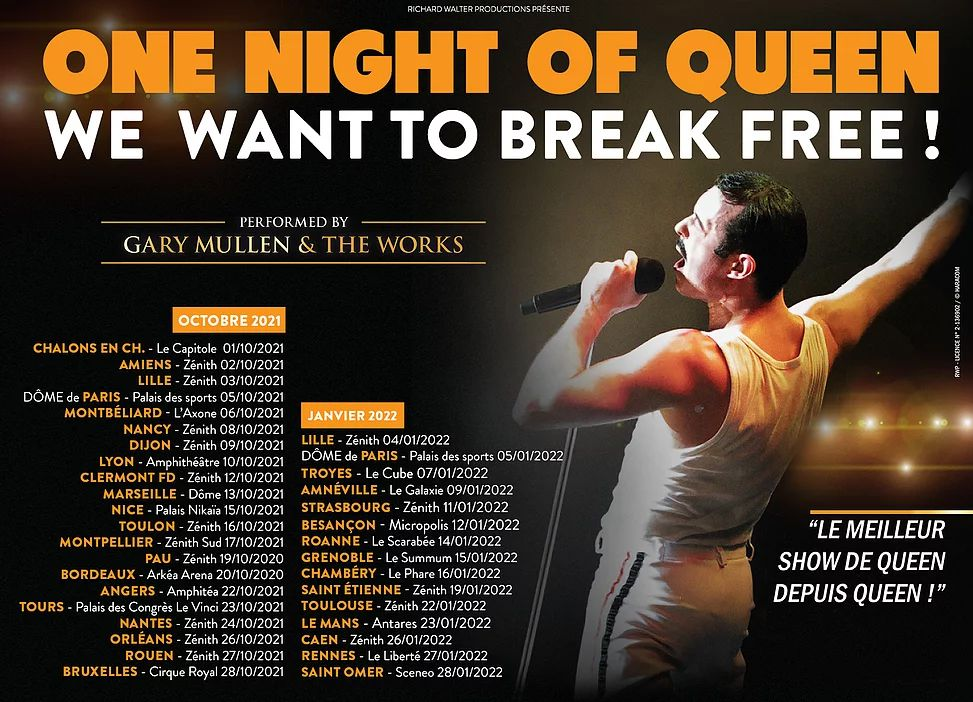 One Night of Queen, concert, spectacle, tournée, No Buzz Today