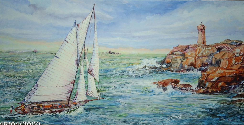 tableaux et aquarelles  de plusieurs endroits et a de    dates divers moments