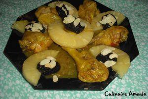 Pilons de poulet à l'ananas