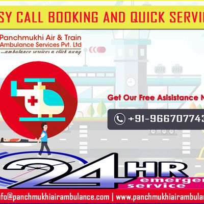 24/7 Presence Of Panchmukhi Train Ambulance from Patna to Delhi