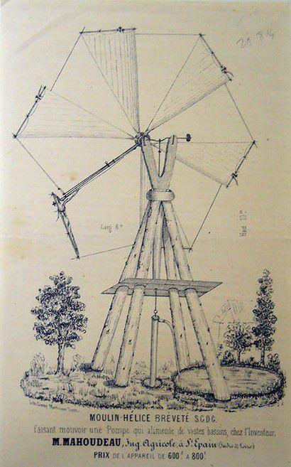OCTAVE MAHOUDEAU 1826-1897 – Notable rural à Saint-Épain et à Sainte-Maure-de-Touraine