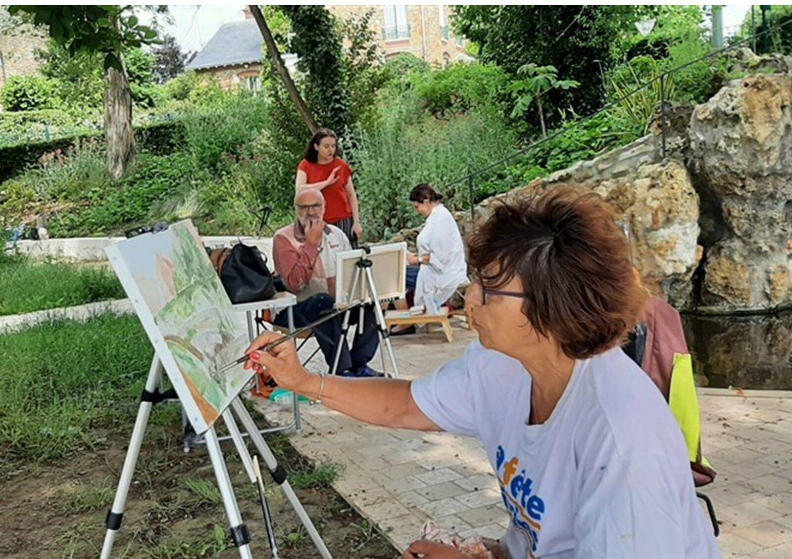 Cours au lac de Verrières pour les groupes de dessin et d'acrylique les 16 et 17 juin !