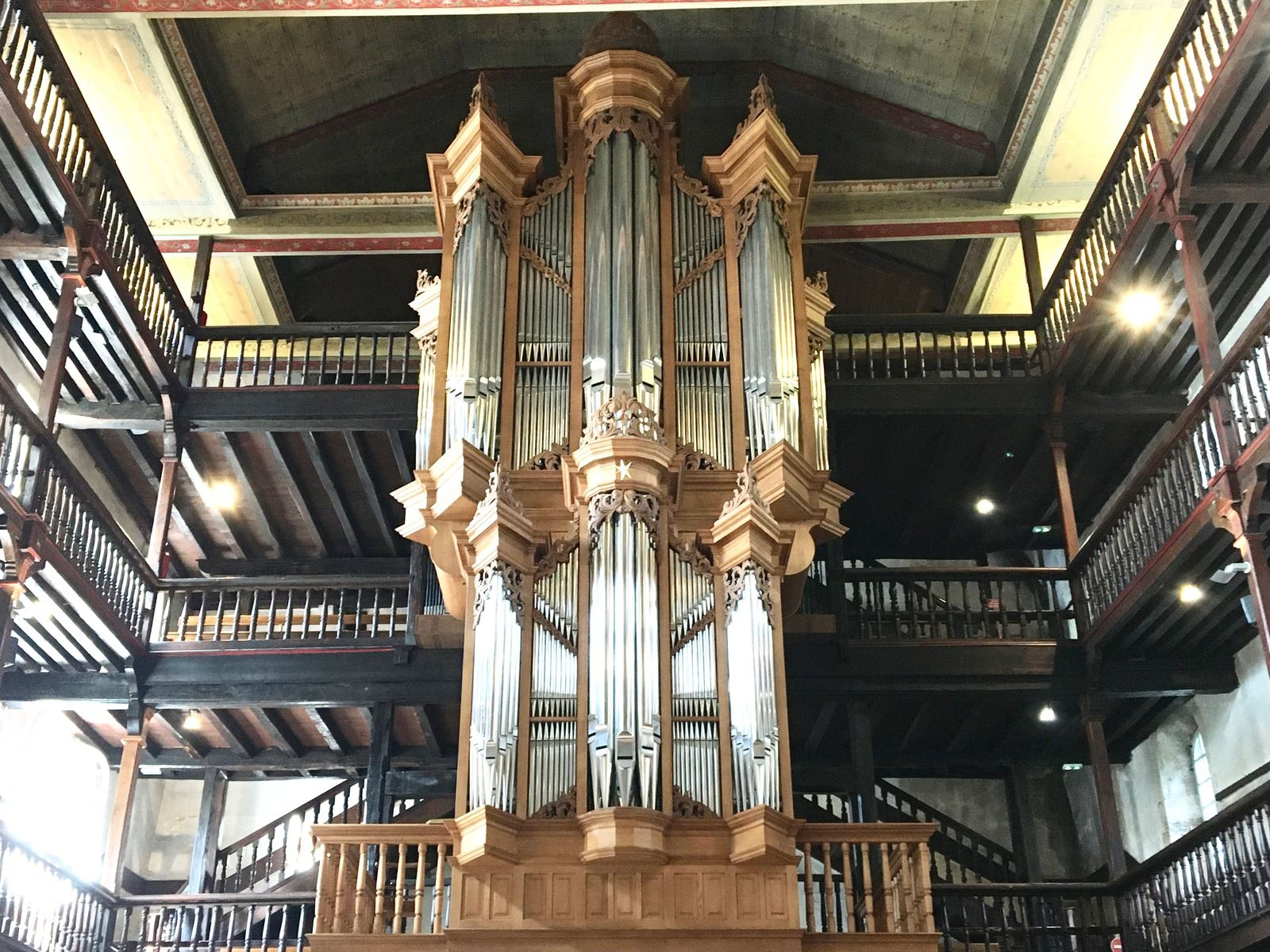 L'orgue de Domnique Thomas de l'Eglise de Ciboure au Pays Basque