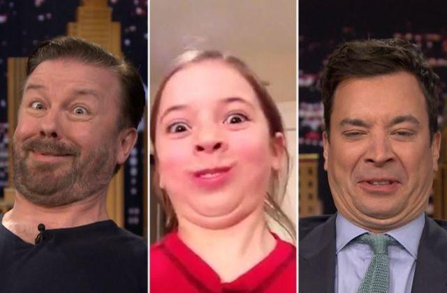 Funny Face Off avec Ricky Gervais et Jimmy Fallon (Vidéo).