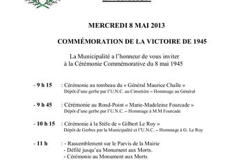Saintes Maries de la Mer: commémoration du 8 mai