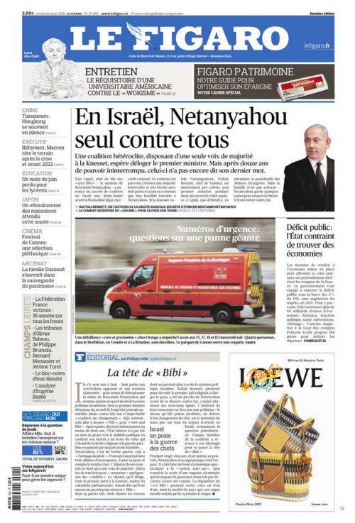 La UNE de la presse quotidienne nationale ce vendredi 4 juin 2021.