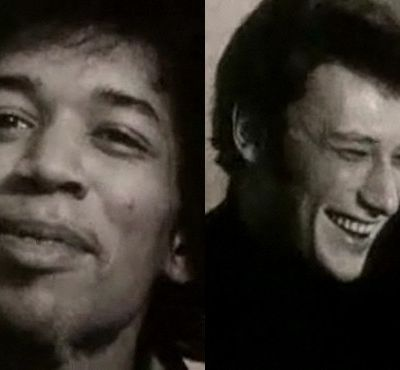 Rare video of JIMI HENDRIX and JOHNNY HALLYDAY in 1966