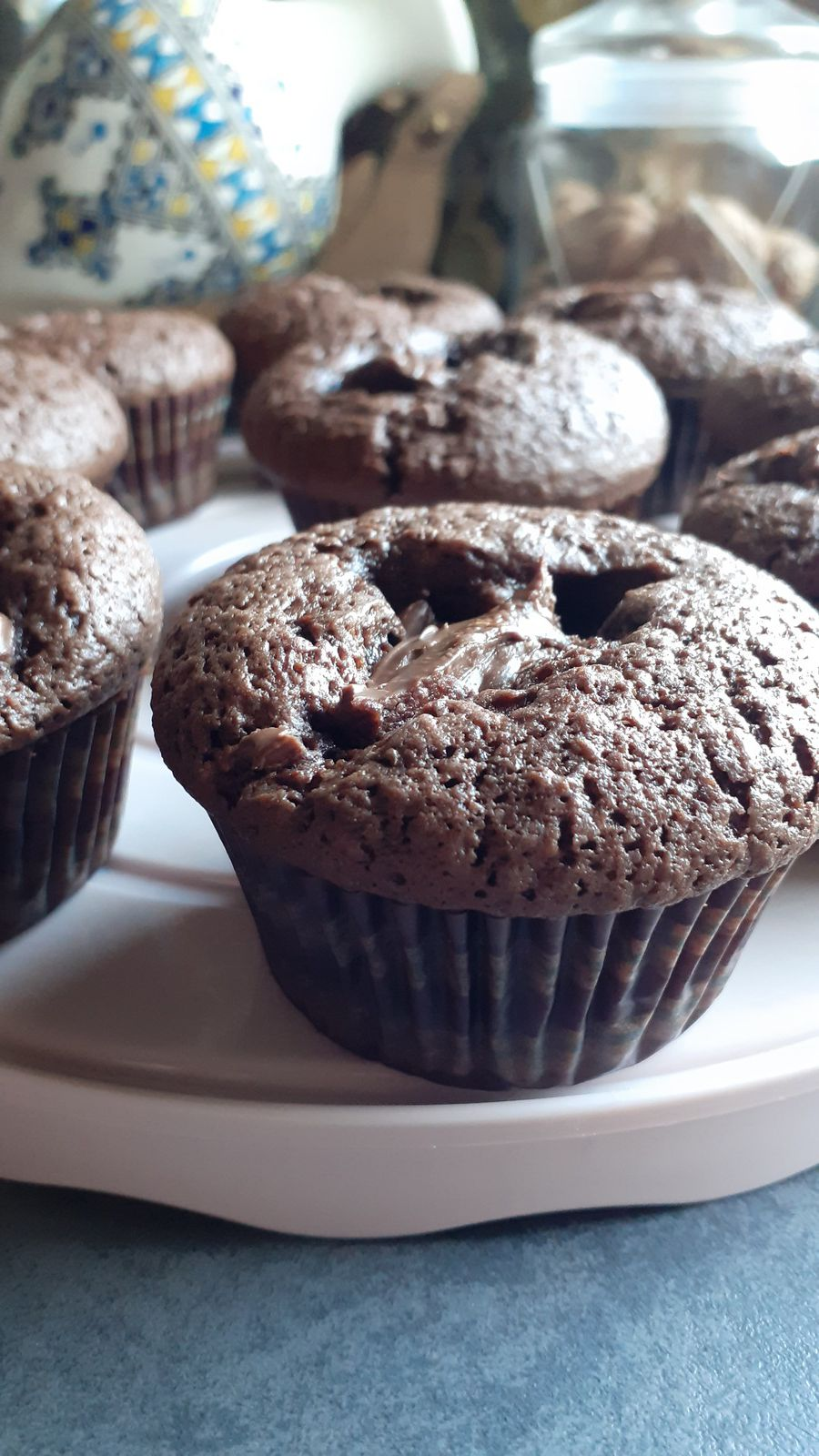 MUFFIN CHOCO/COCO et coeur coulant