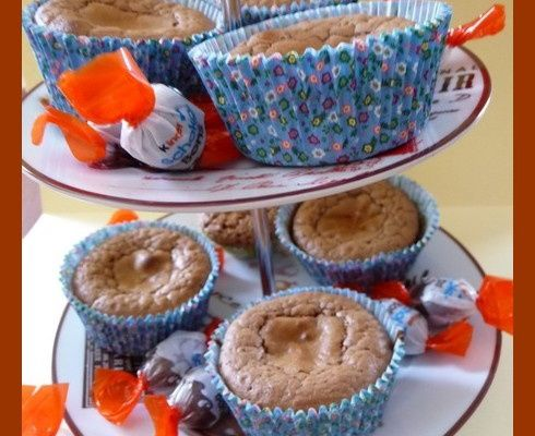 Muffins schokobons et chocolat.