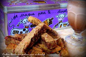 Cookies Sticks de Mlle Banane avec des pralines