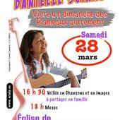 Vivre un dimanche des Rameaux autrement - avec Danielle Sciaky - samedi 28 mars 2015 à Longchamp - paroisse genlis saint just bretenières