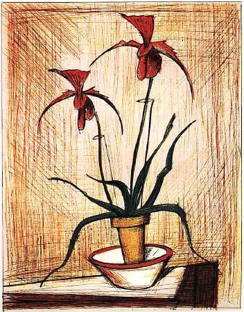 Les fleurs du peintre Bernard Buffet