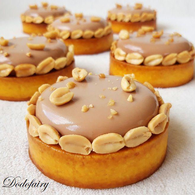 Tartelettes Cacahuète Chocolat au lait Caramel au beurre salé