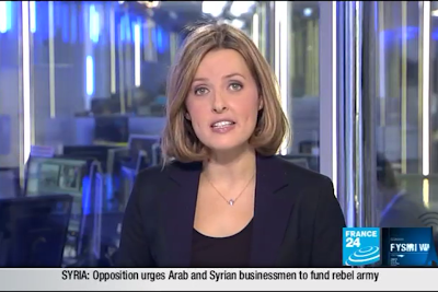 2012 02 07 @21H00 - LAURA BAINES, FRANCE 24, LIVE FROM PARIS