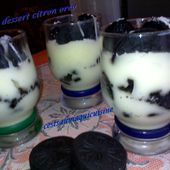 Crèmes dessert citron oréo - Le blog de cestsalimaquicuisine