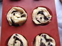 viennoiseries briochées à la crème pâtissière vanille,bananes et pépites de chocolat TM5