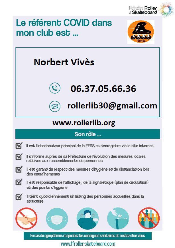 Référent, COVID, club, sport, nimes, roller, lib, mairie, FFRS, fédération, française