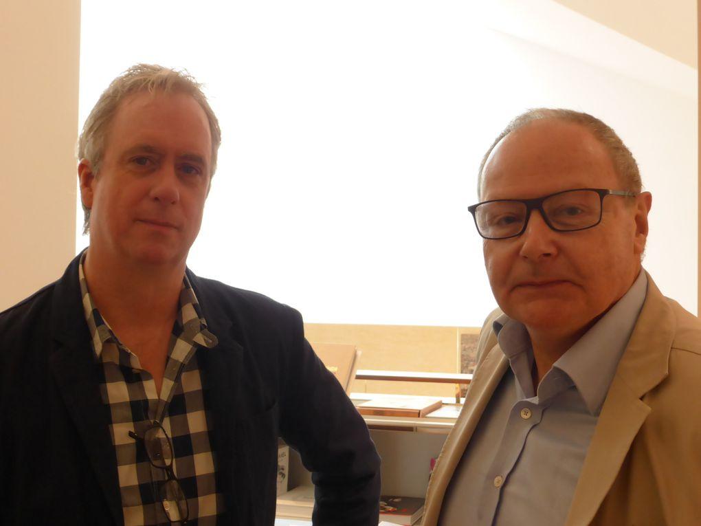 Espace Louis Vuitton. Vidéo-installation Strawberry-Ecstasy-Green de Tony Oursler. 55e Biennale de l'art, Venise, 2013 © Photographie Antoine Prodhomme, journées presse Biennale, mai 2013.