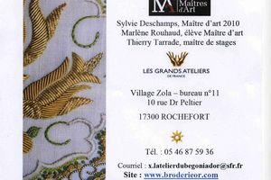 Stage de BRODERIE OR vendredi 13 avril