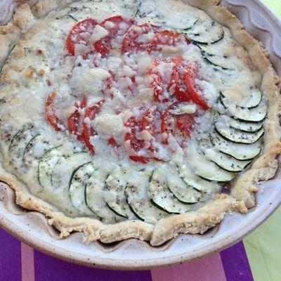 Tarte salée tomates et courgettes