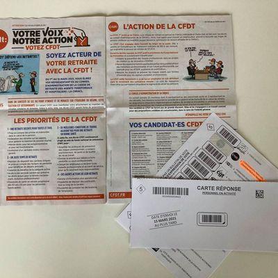 CFDT: le matériel de vote élections CNRACL arrive chez vous!!!
