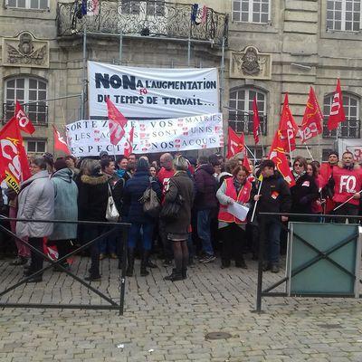 Ce jeudi 07 décembre 2017 : La mobilisation continue pour les agents AGGLO, Ville du Puy et CCAS...