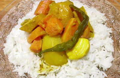 Curry de patate douce et coing