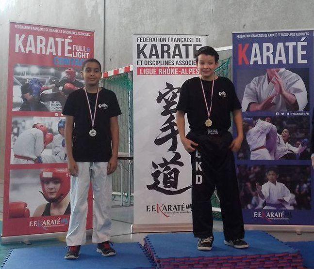 Carton plein pour le Bunkaï Karaté Do aux championnats Rhône-Alpes de karaté contact - Photos: © Bunkaï Karaté Do