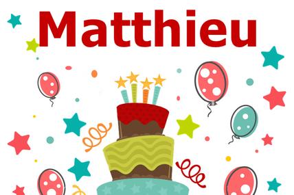 En ce 21 Septembre nous souhaitons une bonne fête à Matthieu