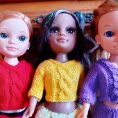 """TRICOT : mes trois poupées Nancy en tenues """"fleur"""" - Creativ-idees, le blog de Casse-bonbeca"""