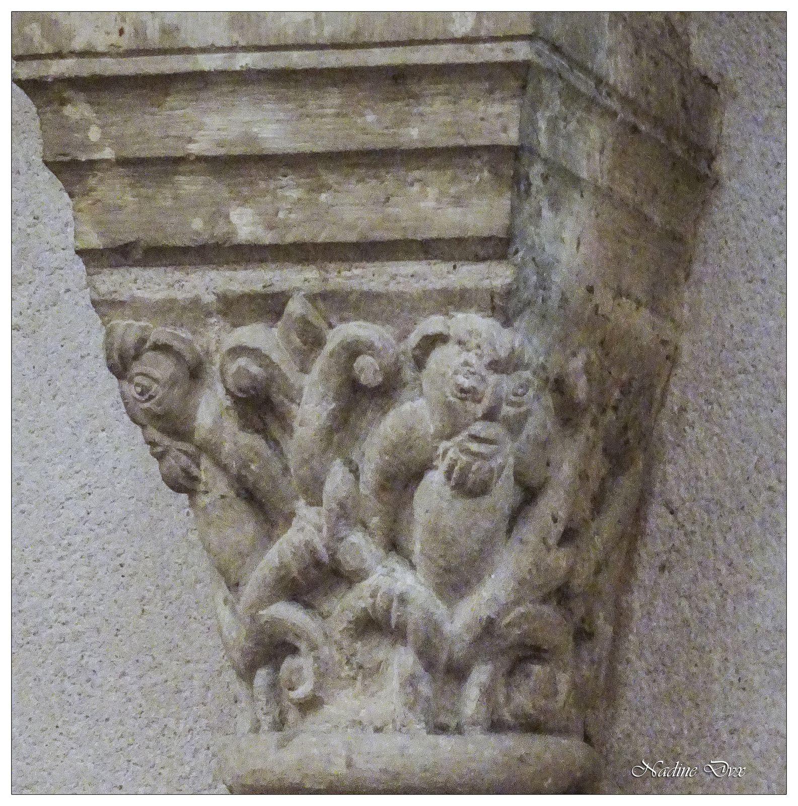 Chapiteaux de l'église Notre-Dame-du-Pré - Le Mans