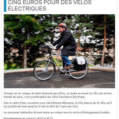 Location : 5 euros pour des vélos électriques jusqu'au 31 mai 2014