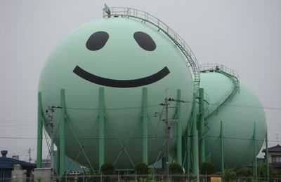 Decorated gas tanks